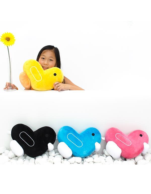 cushion duck canar heart soft black yellow pink blue dhink296 5