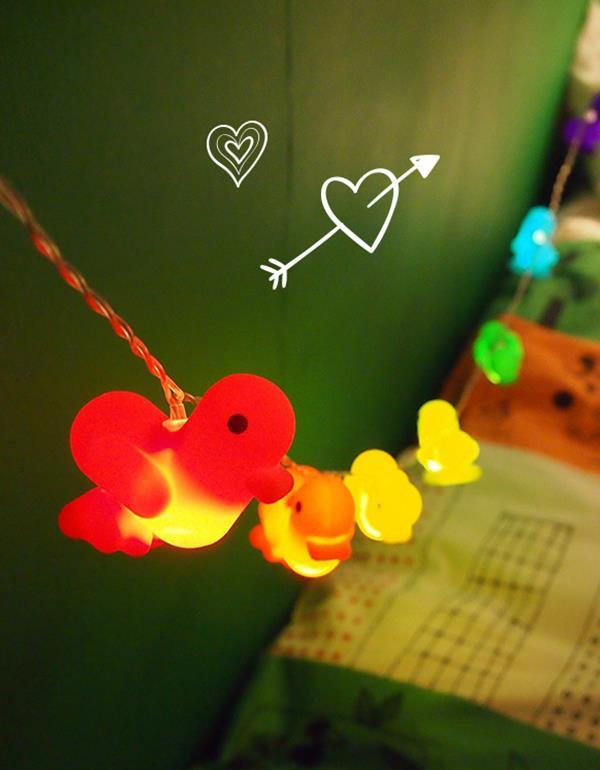 lightstring duck canar heart multicolor lightstring 1
