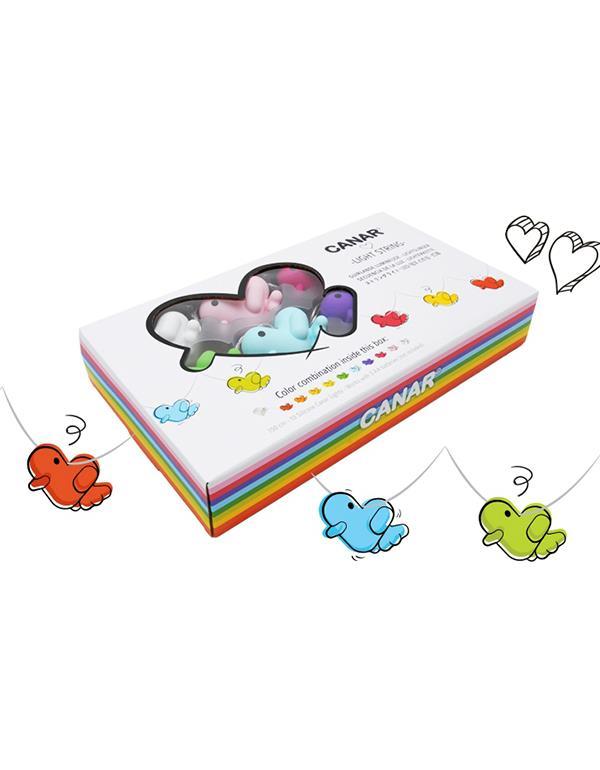 lightstring duck canar heart multicolor lightstring 2