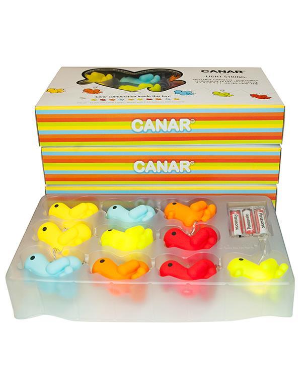 lightstring duck canar heart multicolor lightstring 3
