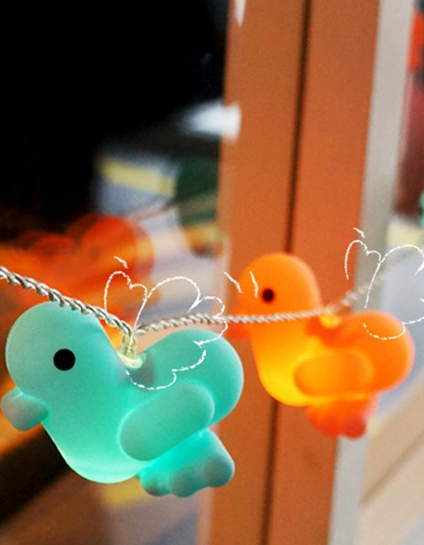 lightstring duck canar heart multicolor lightstring 4