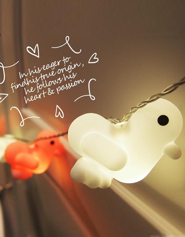 lightstring duck canar heart multicolor lightstring 5