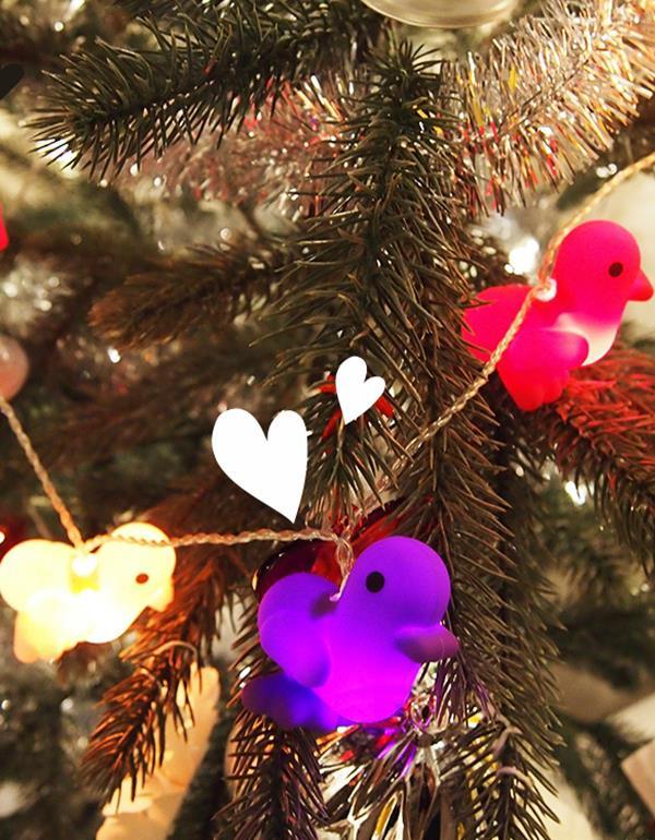 stringlight duck canar heart multicolor dhink415 1