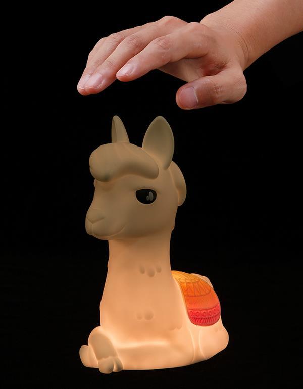 nightlight alpaca llama rechargeable white dhink353 21 1