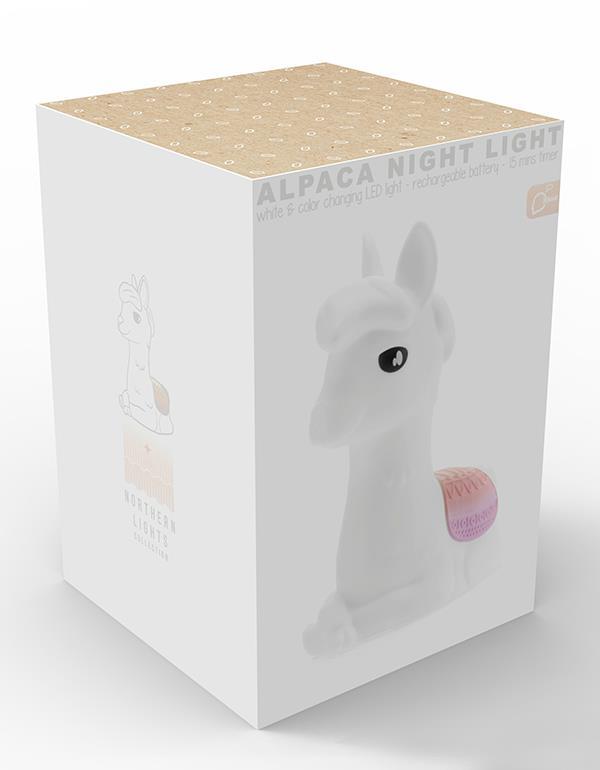 nightlight alpaca llama rechargeable white dhink353 21 14
