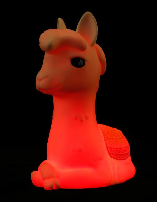 nightlight alpaca llama rechargeable white dhink353 21 5