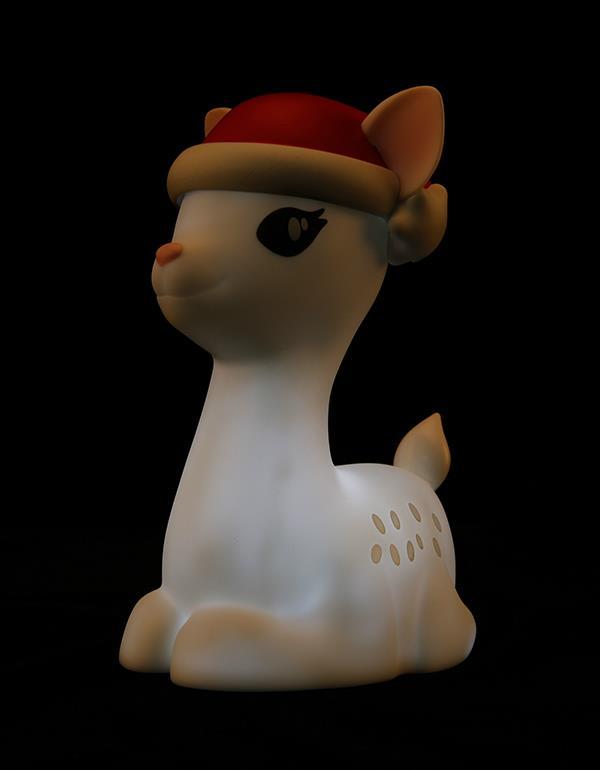 nightlight deer christmas white dhink370 05 4