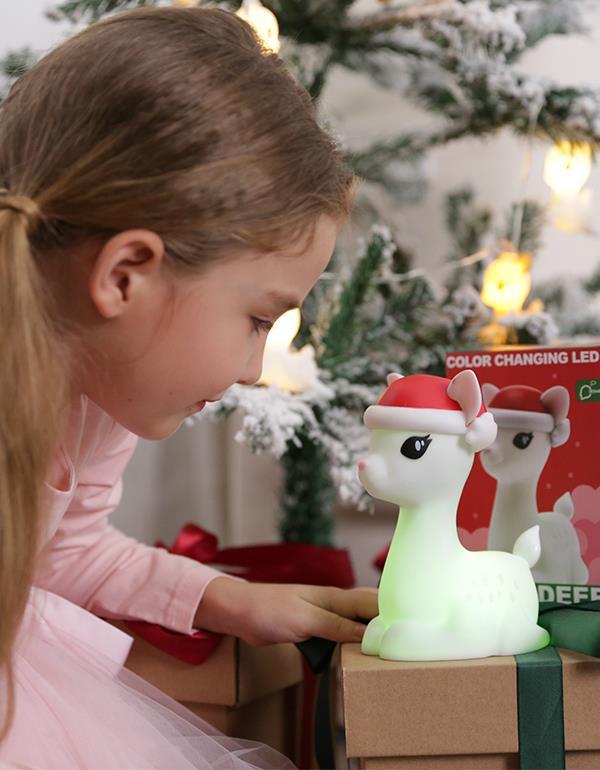 nightlight deer christmas white dhink370 05 6