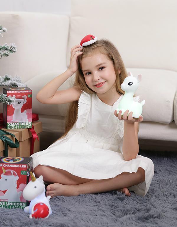 nightlight deer christmas white dhink370 05 7