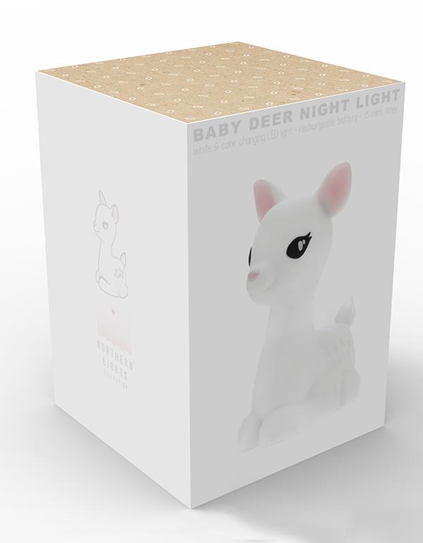 nightlight deer rechargeable white dhink370 21 12
