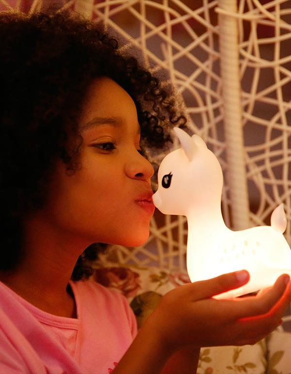 nightlight deer rechargeable white dhink370 21 5