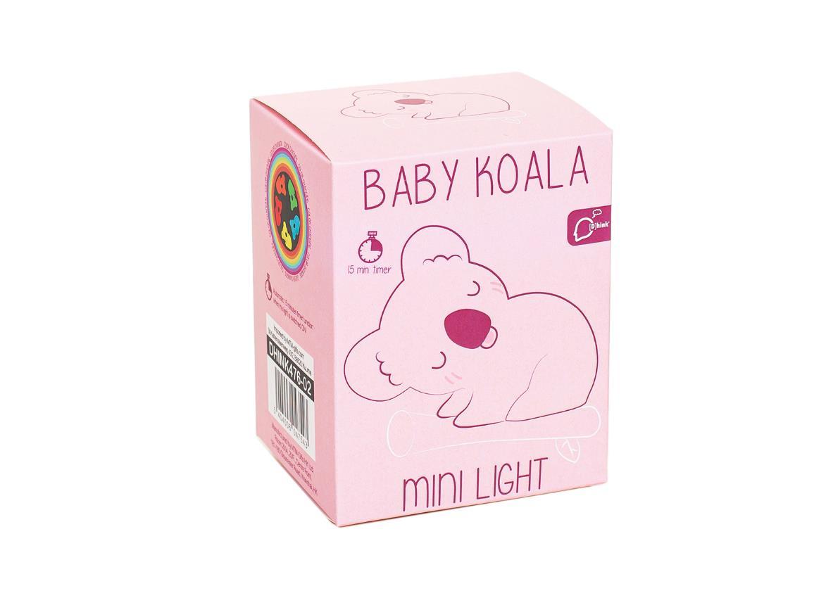 nightlight koala baby white pink dhink476 5