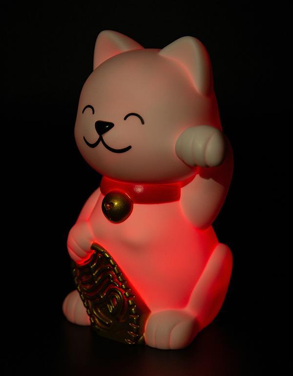 nightlight lucky cat white dhink379 5