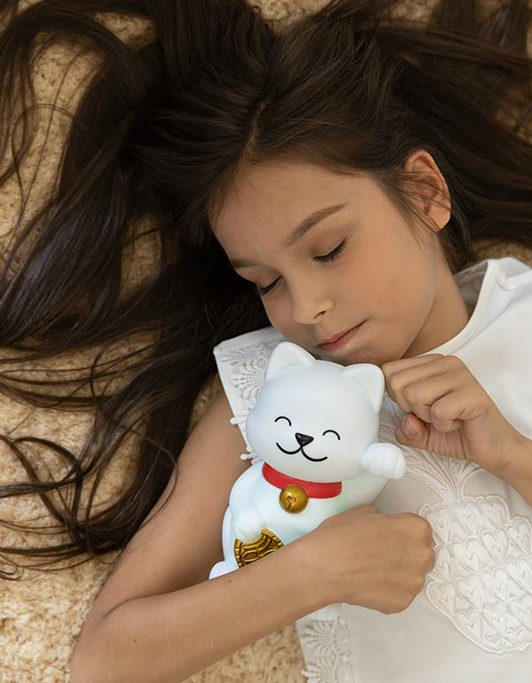 nightlight lucky cat white dhink379 6