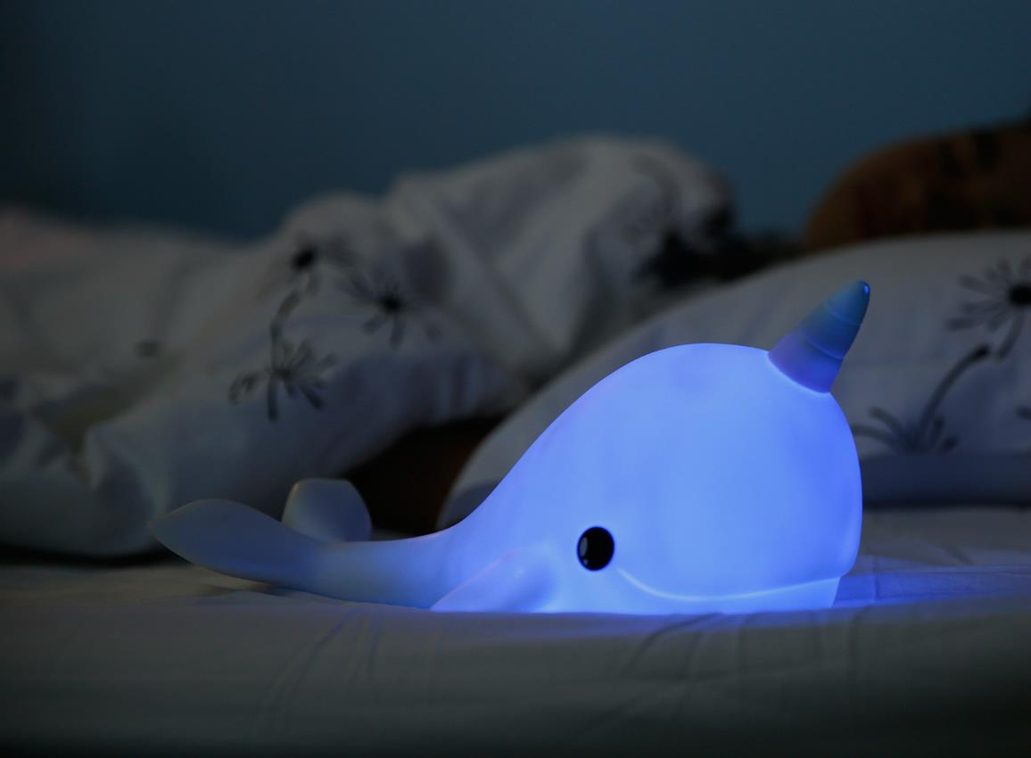 nightlight narwhal rechargeable white dhink362 21 2