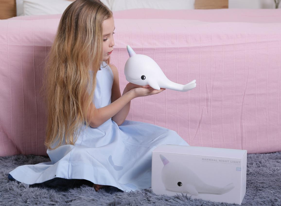 nightlight narwhal rechargeable white dhink362 21 31