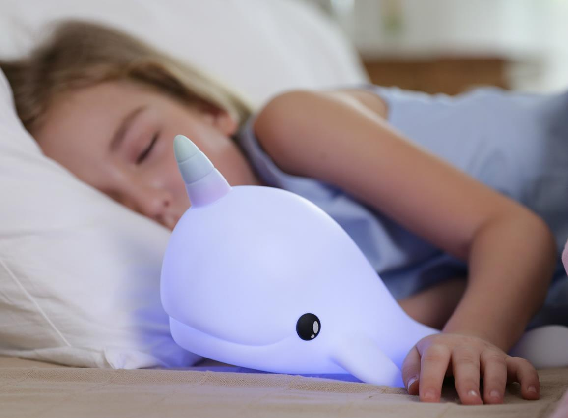 nightlight narwhal rechargeable white dhink362 21 32
