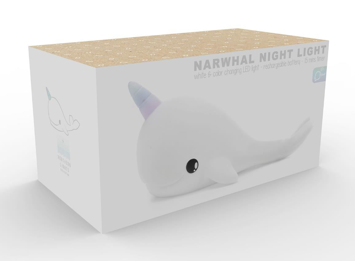 nightlight narwhal rechargeable white dhink362 21 36