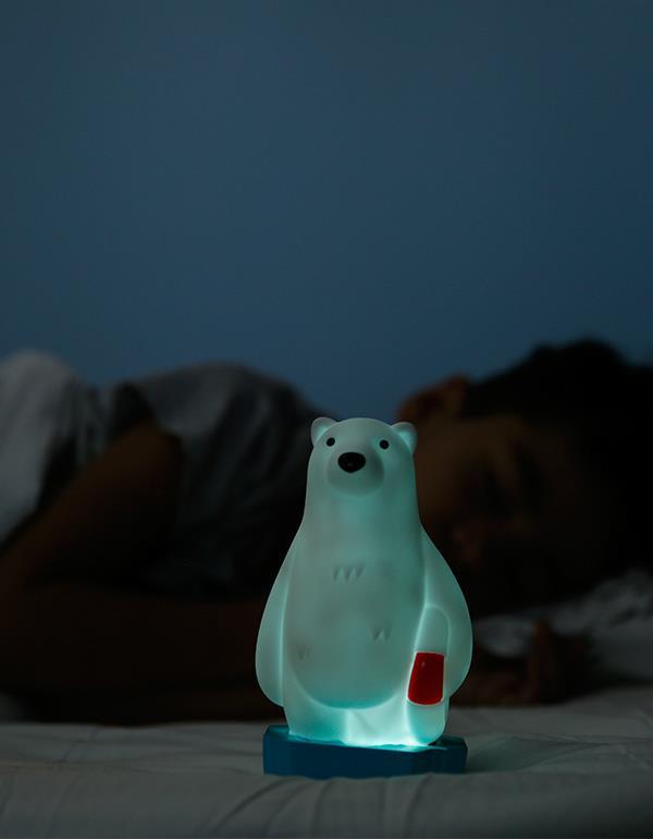 nightlight polar bear white dhink327 11