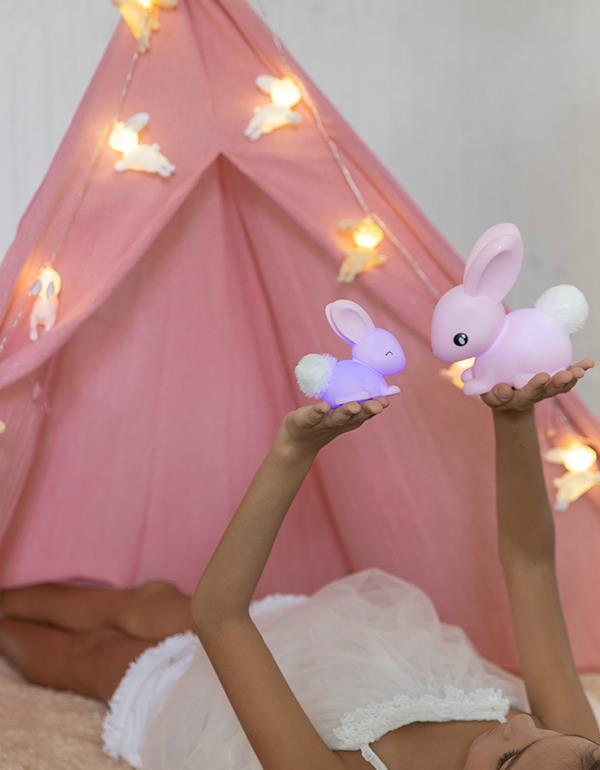 nightlight rabbit baby white pink dhink473 1
