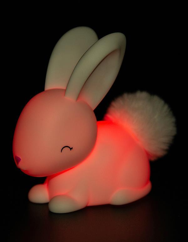 nightlight rabbit baby white pink dhink473 4