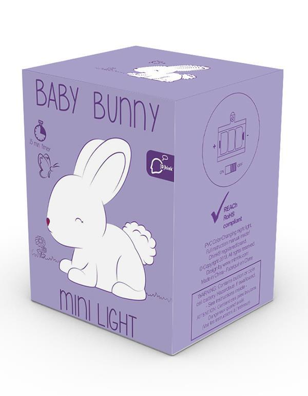nightlight rabbit baby white pink dhink473 9