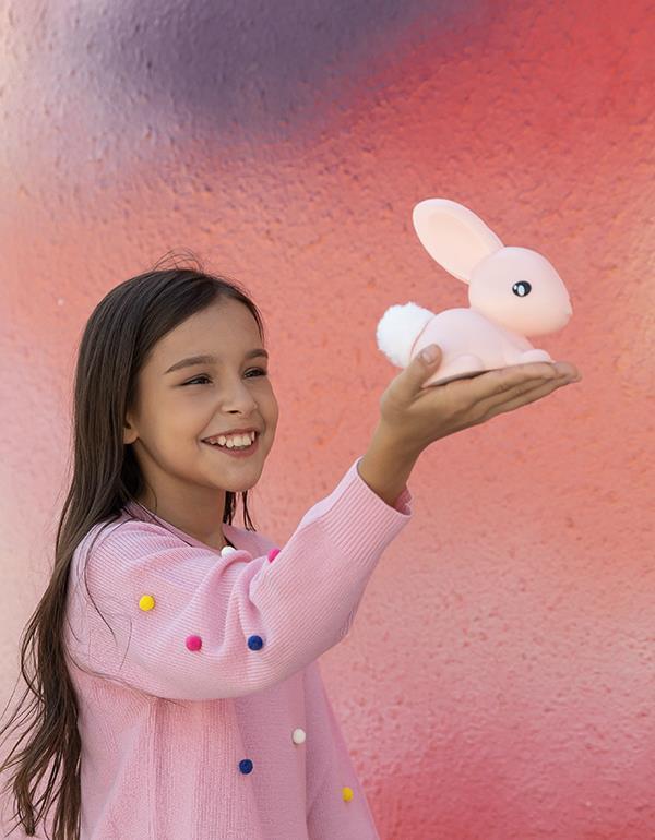 nightlight rabbit white pink dhink376 10
