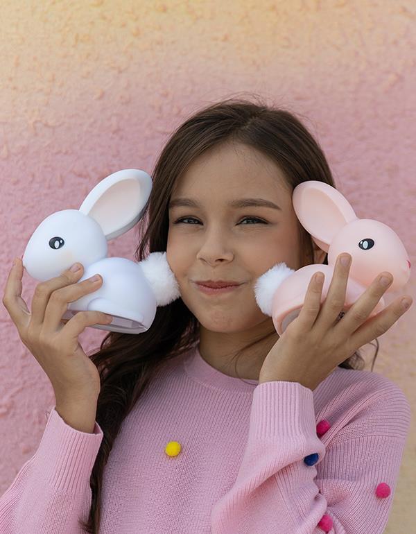 nightlight rabbit white pink dhink376 9