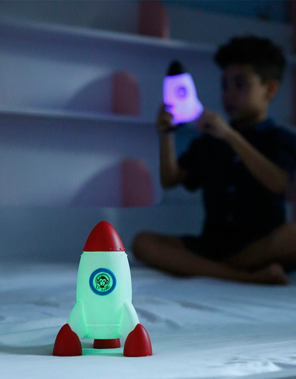nightlight rocket red blue black silver dhink330 8