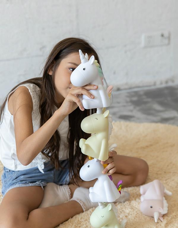 nightlight unicorn rechargeable white dhink338 21