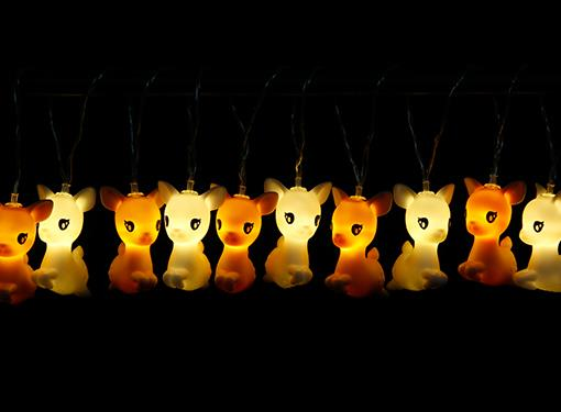 stringlight deer jumping multicolor dhink371 14