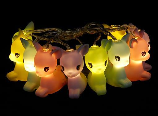 stringlight deer jumping multicolor dhink371 20