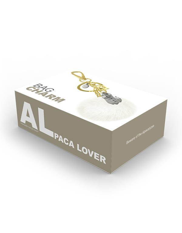 bagcharm alpaca 3D pompom silver metalmorphose mtm184 7