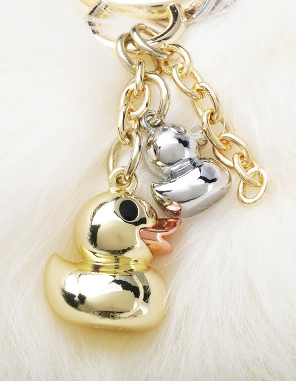 bagcharm duck pompom gold metalmorphose mtm188 7