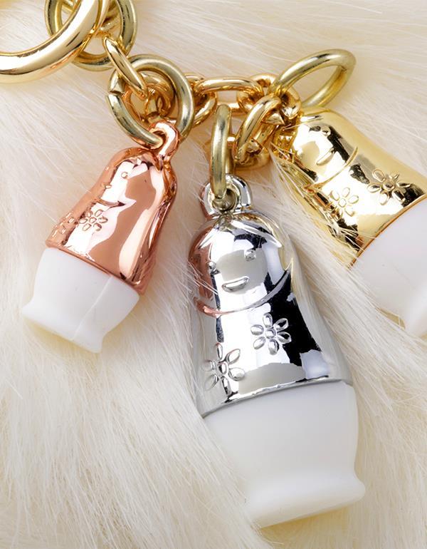 bagcharm matryoshka pink white metalmorphose mtm180 13
