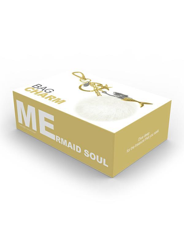 bagcharm mermaid gold metalmorphose mtm192 9