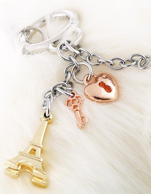 bagcharm paris pink silver gold metalmorphose mtm196 11