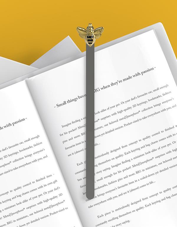 bookmark bee gold metalmorphose mtmb242 7