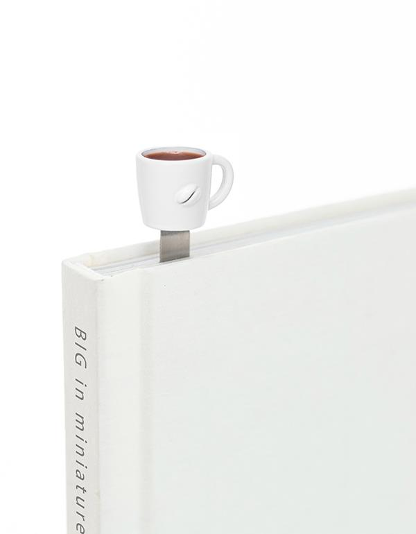 bookmark cup coffee white metalmorphose mtmb232 1