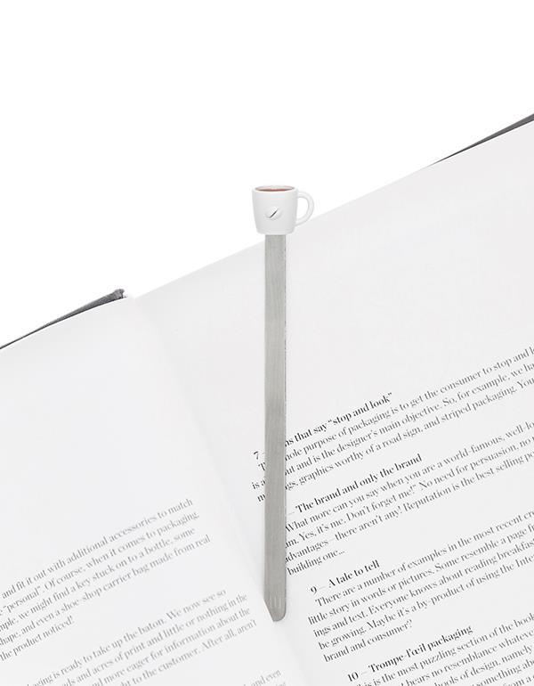 bookmark cup coffee white metalmorphose mtmb232 3