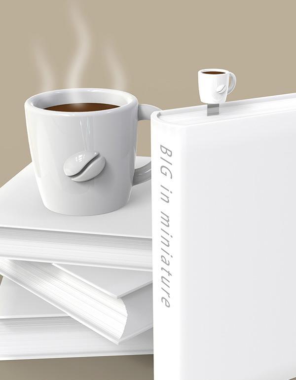 bookmark cup coffee white metalmorphose mtmb232 6