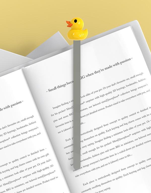 bookmark duck pink yellow metalmorphose mtmb209 18