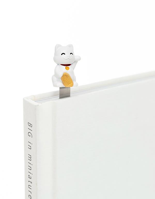 bookmark lucky cat white metalmorphose mtmb230 1