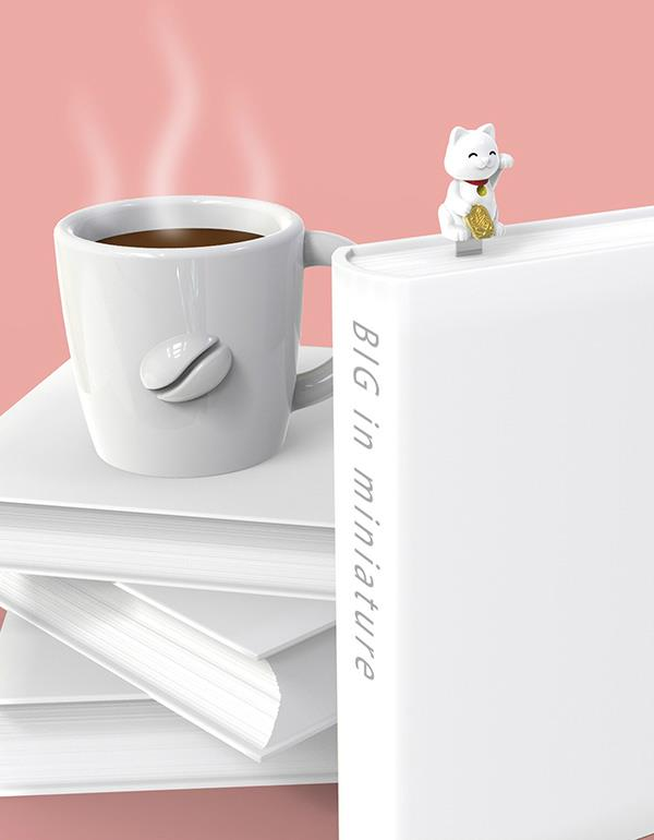 bookmark lucky cat white metalmorphose mtmb230 6