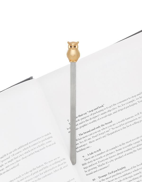 bookmark owl gold metalmorphose mtmb234 3