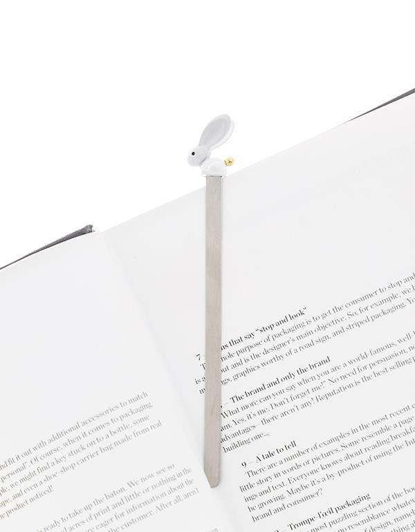 bookmark rabbit white metalmorphose mtmb222 4