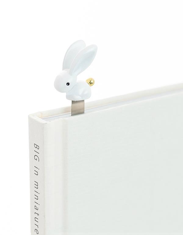 bookmark rabbit white metalmorphose mtmb222 5