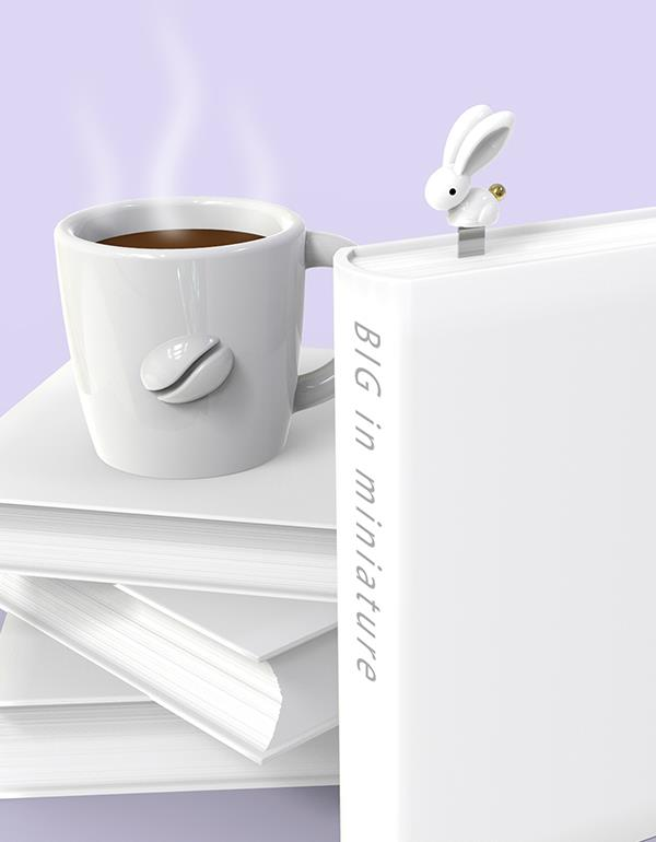 bookmark rabbit white metalmorphose mtmb222 6
