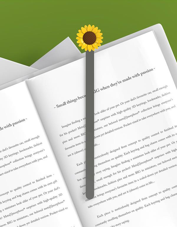 bookmark sunflower yellow metalmorphose mtmb212 05 6new
