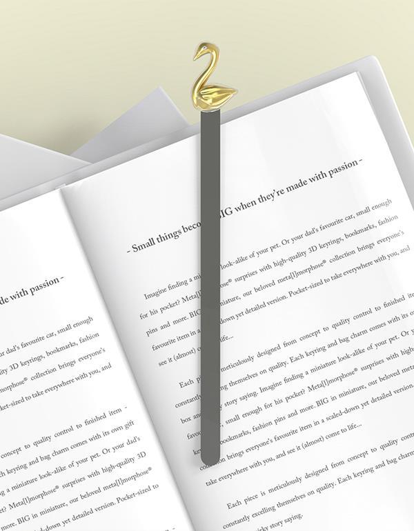 bookmark swan rosegold metalmorphose mtmb219 10